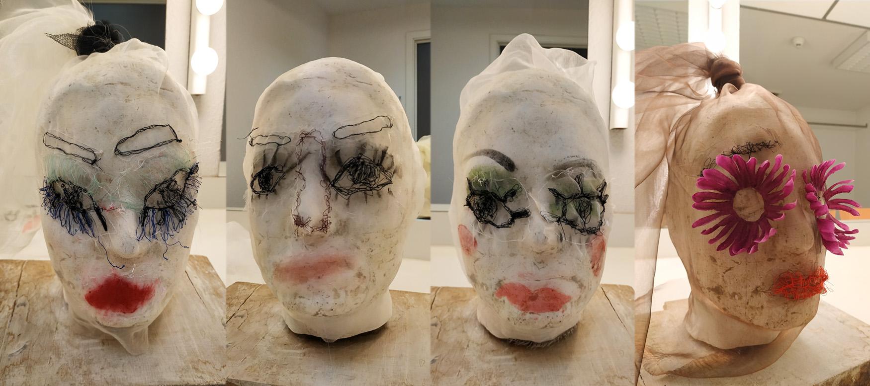 Conception scénographique et fabrication de masques – cie Quai n°7 – spectacle en cours de création