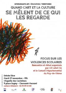Affiche violences scolaires A3 BD 181105